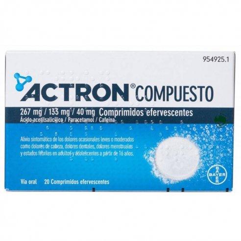 ACTRON COMPUESTO 20 COMPRIMIDOS