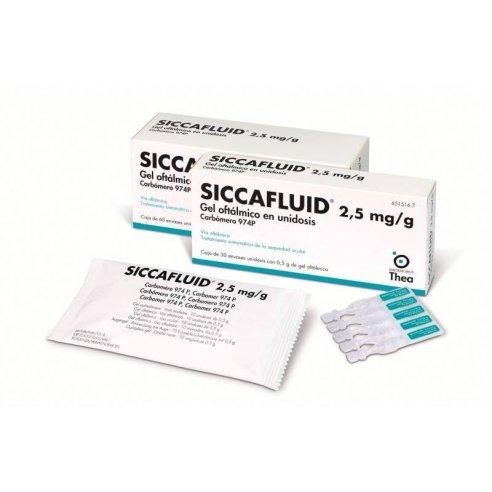 SICCAFLUID 2,5 MG/G 60 MONODOSIS