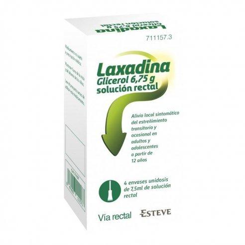 LAXADINA GLICEROL 6,75 GRAMOS SOLUCION RECTAL 4 ENEMA