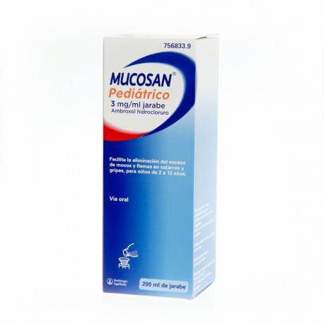 MUCOSAN PEDIATRICO 15MG/5ML JARABE 200ML