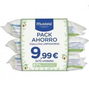 pack 3 UNIDADES TOALLITAS MUSTELA