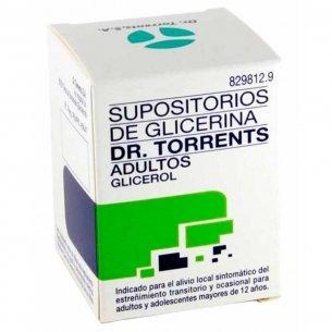 SUPOSITORIOS TORRENTS GLICERINA ADULTOS FRASCO 12