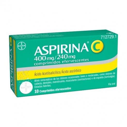 ASPIRINA C 10 COMPRIMIDOS EFERVESCENTE